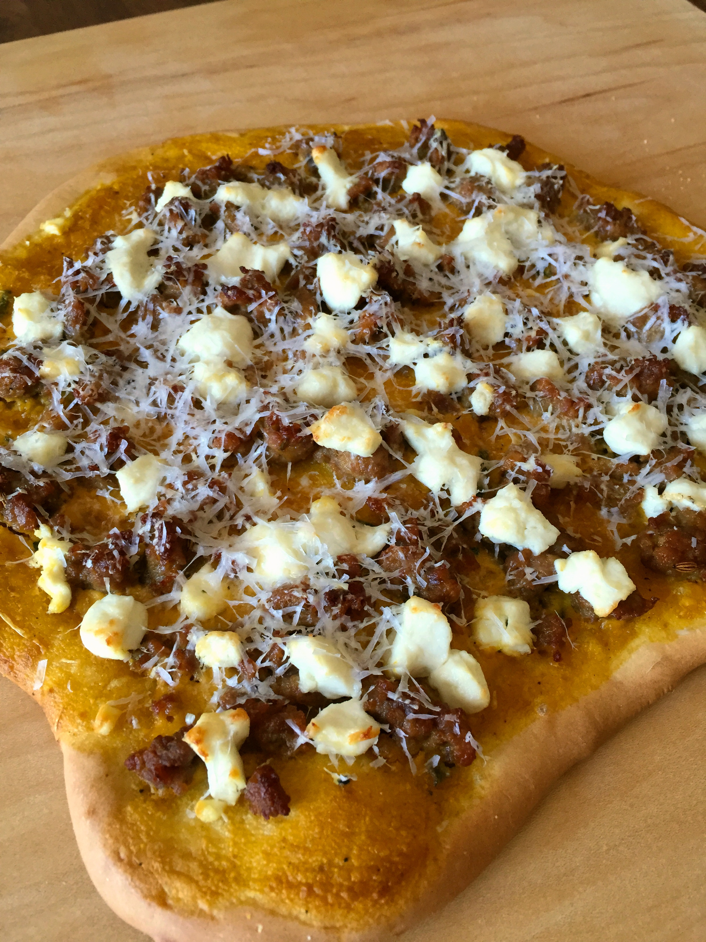 Pumpkin Sausage Pizza