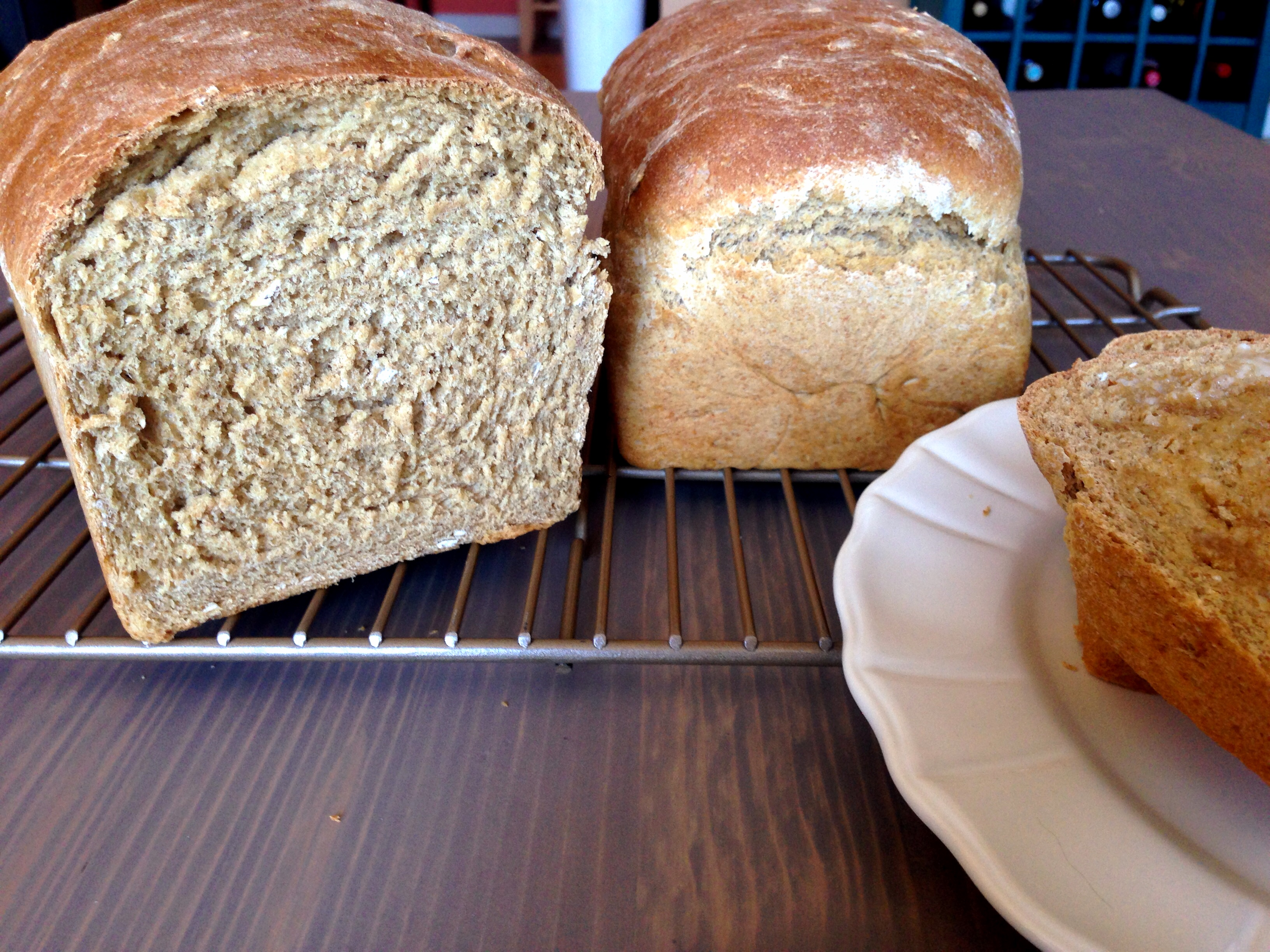 Honey Oat Wheat Bread
