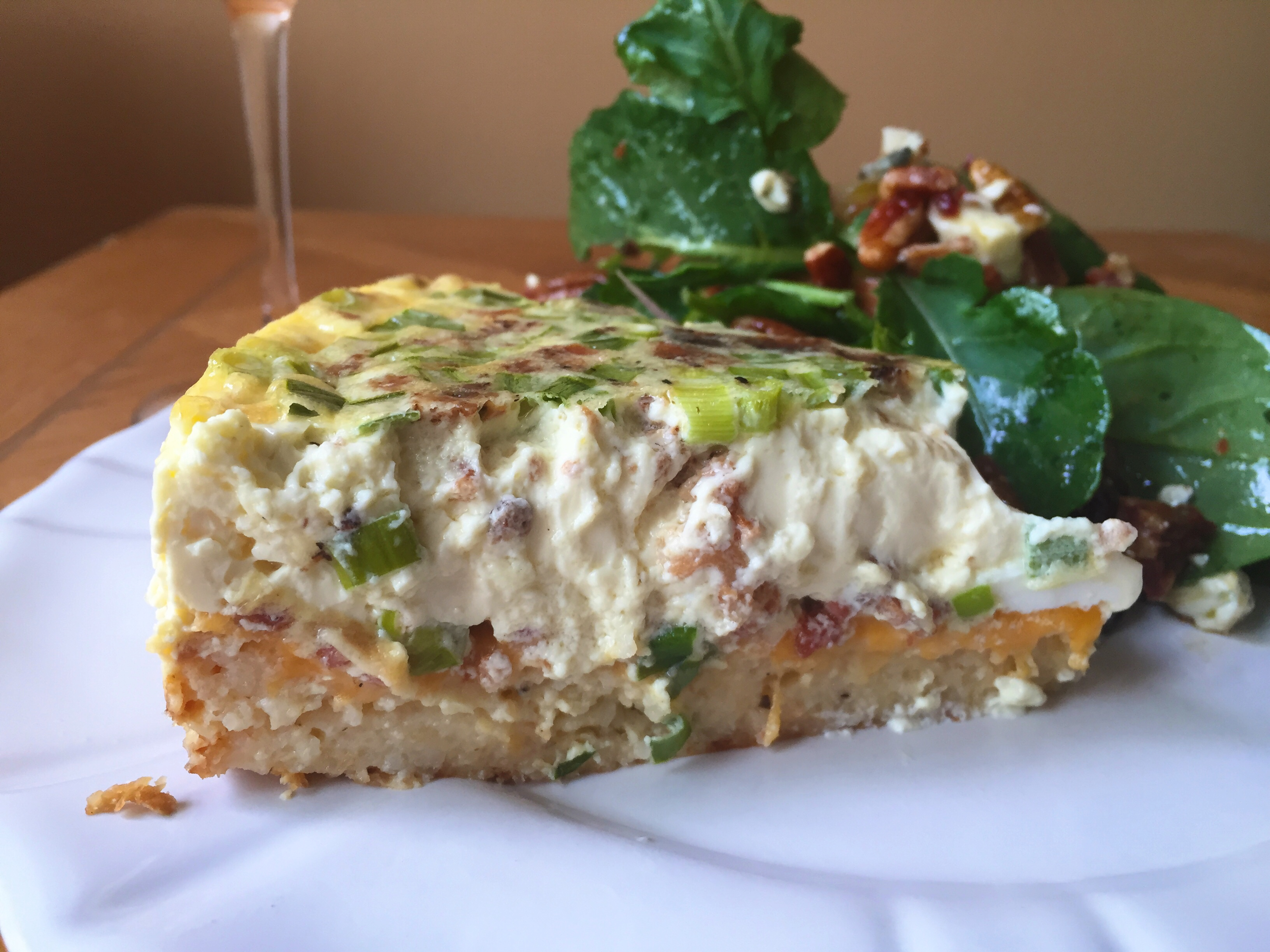 Bacon Quiche with Cheesy Grits Crust