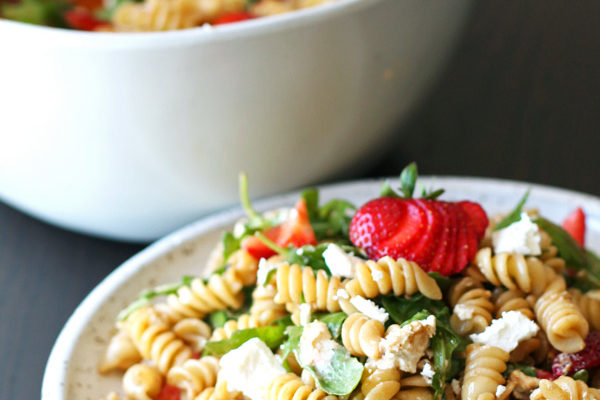Strawberry Balsamic Pasta Salad